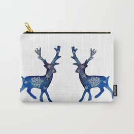 Winter Deer Snowflakes Carry-All Pouch