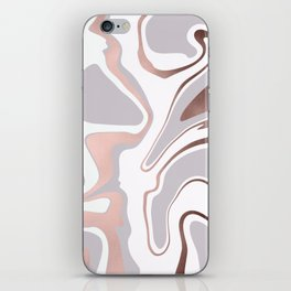 Elegant rose gold marble look iPhone Skin