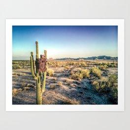 Cactus Cuckoo Art Print