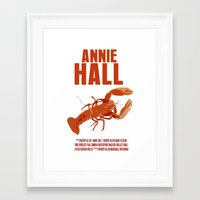 annie hall Framed Art Prints featuring Annie Hall by FunnyFaceArt
