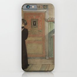 Carl Larsson - Between Christmas and New Year (From a Home watercolor series) iPhone Case