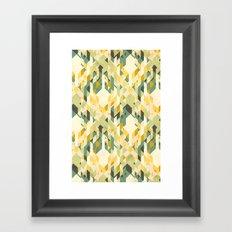 des-integrated tartan pattern Framed Art Print