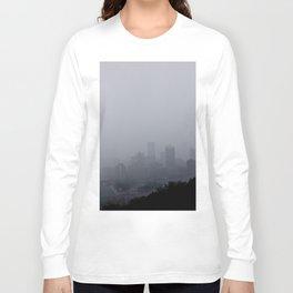 Foggy Pittsburgh Skyline Long Sleeve T-shirt