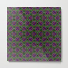 Colorful Geometric Pattern VIII Metal Print