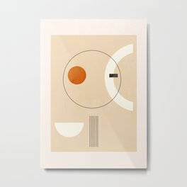 Minimal Geometric Shapes 35 Metal Print