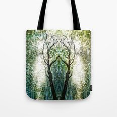 Bamboo Forest Geometry Tote Bag