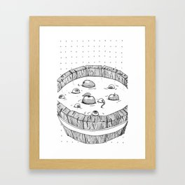 Barrel full of Eyes Framed Art Print