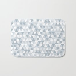 shades of ice gray triangles pattern Bath Mat