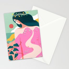 How to Befriend a Mountain Stationery Cards
