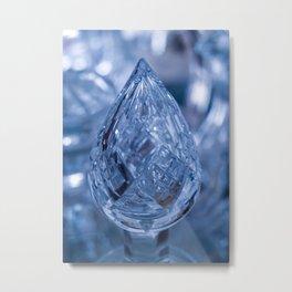 BLUE SAPPHIRE GLASS JEWEL Metal Print