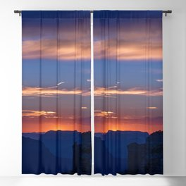 Colorful Sunset - North_Rim, Grand_Canyon, AZ Blackout Curtain