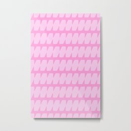 Pink Dog Tooth Metal Print