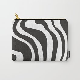 Black and White Swirl Pattern Carry-All Pouch