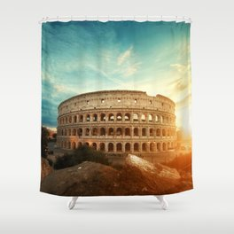 Colosseum Amphitheatre Rome Italy Shower Curtain