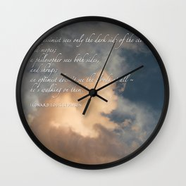 Cloud Inspirational Pillow Cover Wall Clock