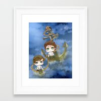 larry stylinson Framed Art Prints featuring Larry Stylinson - Anchor and rope by Yorlenisama