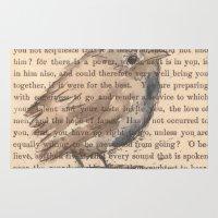 waldo Area & Throw Rugs featuring Ralph Waldo Emerson Bird by Wendy Roscoe Designs