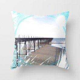 Victorian Pier - paint Throw Pillow