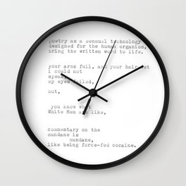 untitled (after 'the waste land') Wall Clock