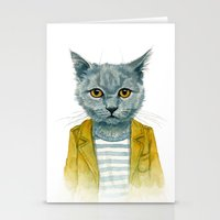 kitty Stationery Cards featuring Kitty by Leslie Evans