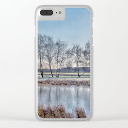Winter landscape in Holand Clear iPhone Case
