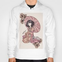 blossom Hoodies featuring  Blossom by Cat Milchard