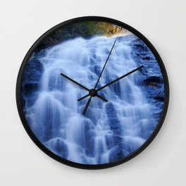 Crabtree Falls at Golden Hour Wall Clock