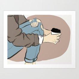 Fashion Latte To Go Art Print