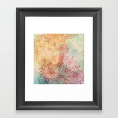 Flowery Field Framed Art Print
