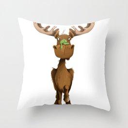 Moose Named Moe Throw Pillow