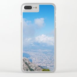 Landscape on Napoli between clouds Clear iPhone Case