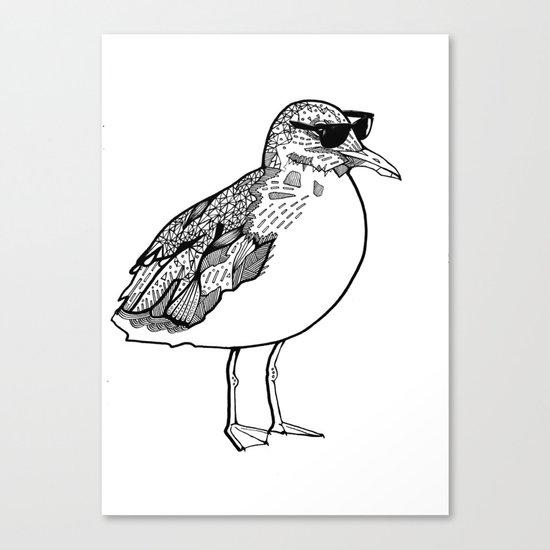 cool Seagull Canvas Print