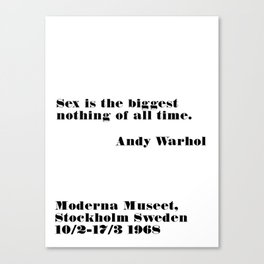 biggest nothing of all time Canvas Print