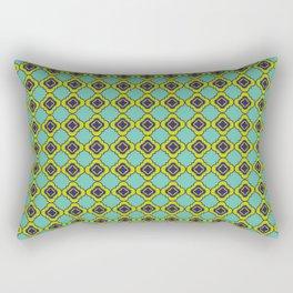 Quatrefoil - mint and blue Rectangular Pillow