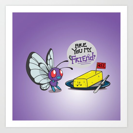 Lonely Butterfree Art Print