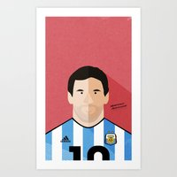 messi Art Prints featuring Messi by Mohammed Albassami