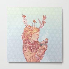 December Lady Metal Print