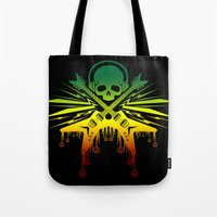 punk rock Tote Bags featuring punk rock  by jhun21