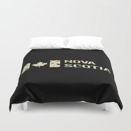 Canadian Flag: Nova Scotia Duvet Cover
