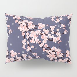Sakura in night. Pillow Sham
