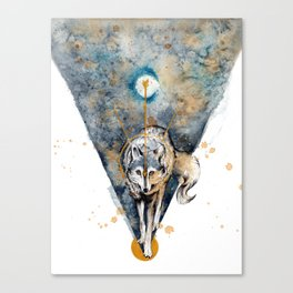 Lunar Wolf Canvas Print