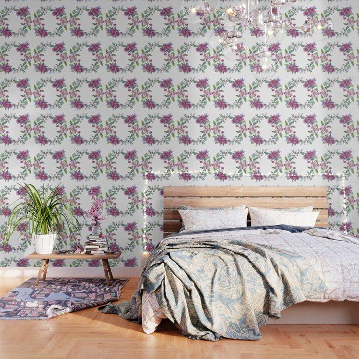 Apple Blossom Wreath 02 Wallpaper