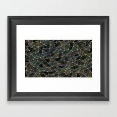 Abstract Digital Waves Framed Art Print