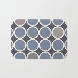 Adelaide Modern Scalloped Circles in Purple - Bath Mat