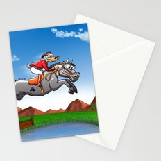 Olympic Equestrian Jumping Dog Stationery Cards