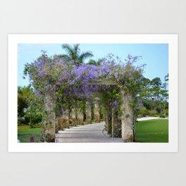 Purple Columns Art Print