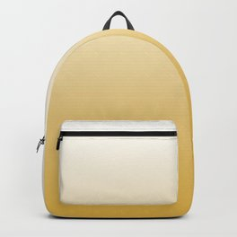 Mustard Yellow and White Gradient Backpack