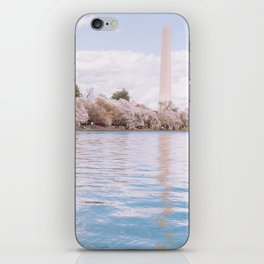 Washington DC Cherry Blossoms - Washington Monument II iPhone Skin