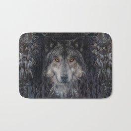 The Winter is here - Wolf Dreamcatcher Bath Mat
