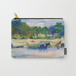 Chincoteague Horses painting Carry-All Pouch